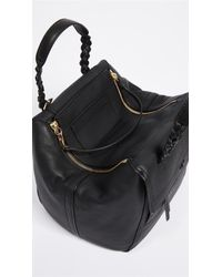 Tory Burch - Black Half Moon Small Satchel - Lyst
