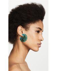 Shashi - Green Mallory Hoop Earrings - Lyst
