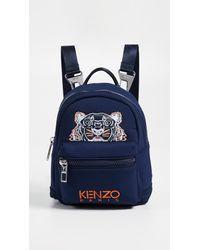 KENZO Blue Mini Neoprene Tiger Backpack for men