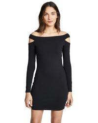 Susana Monaco Black Off The Shoulder Cutout Dress