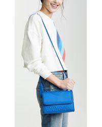 Tory Burch Blue Fleming Matte Small Convertible Shoulder Bag
