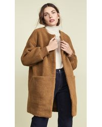 Madewell Brown Bonded Sherpa Cocoon Coat