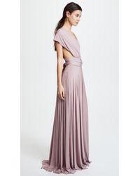 Twobirds Purple Convertible Maxi Dress