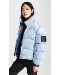 Alexander Wang Blue Puffer Jacket