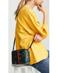 Clare V. - Black Ditsy Floral Desert Stripe Bag - Lyst