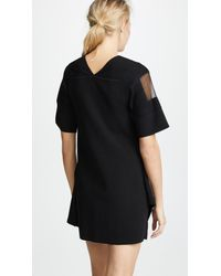 3.1 Phillip Lim Black Needle Punch Handkerchief Dress