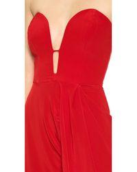 Zimmermann Red Silk Curve Long Dress