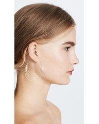 Gorjana - Metallic Casey Profile Hoop Earrings - Lyst