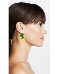 Elizabeth Cole - Yellow Thaddea Earrings - Lyst