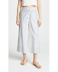 Splendid White Tulum Stripe Pants