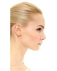 Aurelie Bidermann - Multicolor Positano Hoop Earrings - Lyst