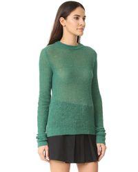 Acne - Green Trixie Alpaca Sweater - Lyst