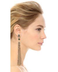 Alexis Bittar - Metallic Cascading Crystal Clip On Tassel Earrings - Lyst