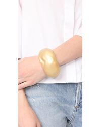 Alexis Bittar - Metallic Domed Liquid Silk Cuff Bracelet - Lyst