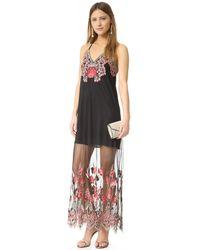 Alice + Olivia - Black Paisley-print Party Dress - Lyst