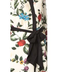 Alice + Olivia Multicolor Brooklynn Tie Belt Dress