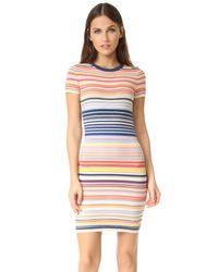 Alice + Olivia | Blue Hayden Striped Dress | Lyst