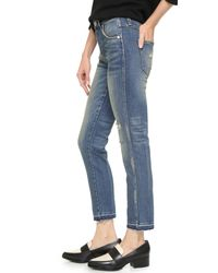 AMO - Blue Babe High Rise Cropped Slim Jeans - Lyst