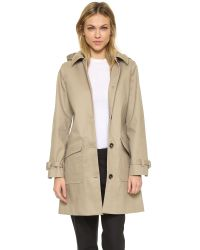 A.P.C. Natural Mac Hooded Morgate Coat