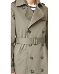 A.P.C. Green Barbara Trench