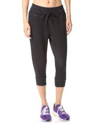 Adidas By Stella McCartney Black Studio 3/4 Sweatpants