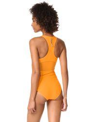Adidas By Stella McCartney Orange Zip Swimsuit