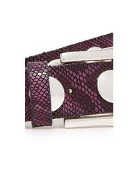 B. Belt - Multicolor Large Stud Python Print Belt - Lyst