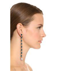 Ben-Amun - Metallic Imitation Pearl Drop Duster Earrings - Lyst