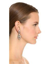 Ben-Amun - Metallic Iridescent Cluster Chandelier Earrings - Lyst
