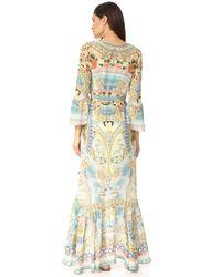 Camilla Multicolor Sign Of Peace Wrap Dress