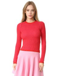 Carven   Red Long Sleeve Sweater   Lyst