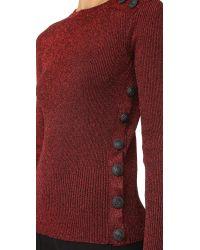 Cedric Charlier - Multicolor Metallic Sweater - Lyst