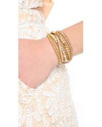 Chan Luu - Metallic Picture Jasper Mix Beaded Wrap Bracelet - Lyst