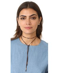 Chan Luu - Blue Sapphire Leather Choker Necklace - Lyst