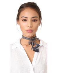 Chan Luu - Multicolor Skinny Scarf Necklace - Lyst