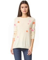 Chinti & Parker Multicolor Slouchy Star Cashmere Sweater