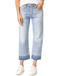 Citizens of Humanity | Blue Cora Crop Jeans | Lyst