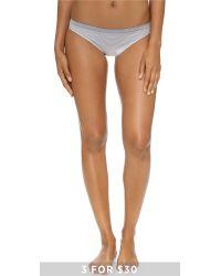 Calvin Klein Gray Seamless Illusions Bikini Panties
