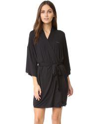 Calvin Klein - Black Comfort Robe - Lyst