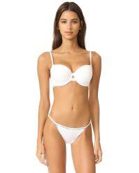 Calvin Klein White Calvin Klein Id String Bikini Panties