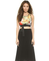 Clover Canyon | Green Falling Leaves Crop Top | Lyst