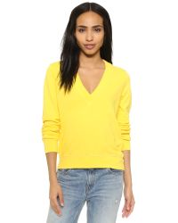 CLU | Yellow Too V Neck Pullover | Lyst