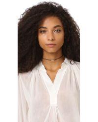 Cloverpost - Metallic Flash String Choker Necklace - Lyst