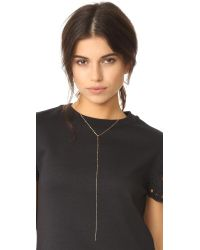 Cloverpost | Metallic Nugget Excess Tight Lariat Necklace | Lyst