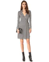 Diane von Furstenberg - White 'new Jeanne Two' Print Silk Wrap Dress - Lyst