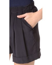 DKNY - Black Pure Pull On Shorts - Lyst