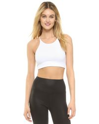 David Lerner | White Abbie Bralette Crop Top | Lyst