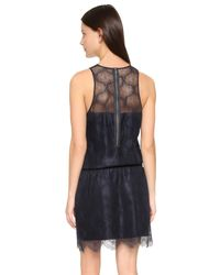 David Lerner - Blue Lace Dress - Lyst