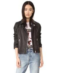 Doma Leather | Black Tull Moto Jacket | Lyst