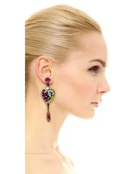 Erickson Beamon - Metallic Birds Of Pray Earrings - Lyst